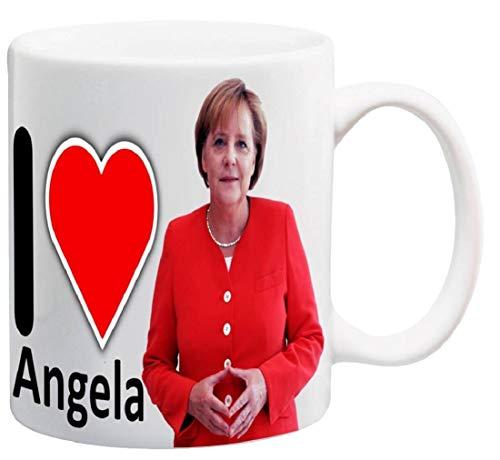 I Love Angela Merkel - Tazza in ceramica, 325 ml