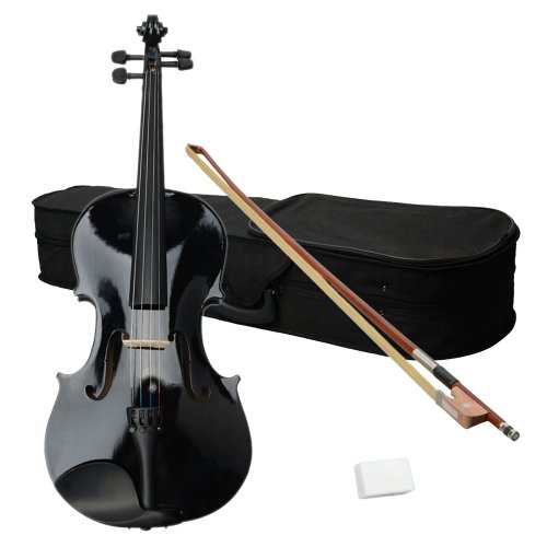 Acoustic Viola with Case, Bow, Rosin for Beginners Student, Acoustic Violin Starter Kit (16 Inch,...
