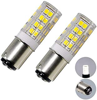 BA15D LED Double Contact Bayonet Base Sewing Machine Bulb 120 Volts,T3/T4/C7/S6,5W Daylight 6000K,LED 40W Halogen Replacement Bulb,Dimmable (2-Pack)