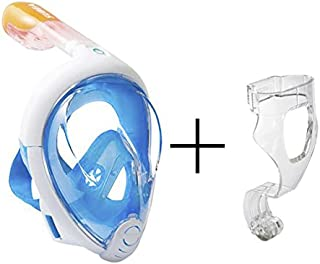 TRIBORD SUBEA Easybreath Full Face Snorkel Mask Anti-Fog (Latest Version) with Camera Fixation and Microfiber Cloth 6.6