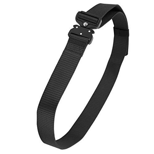 Vbest life Verdickter 3,8 cm Legierungs-Nylon-Taillengürtel, Outdoor-Multifunktions-Militär-Cobra-Bergsteiger-Trainingsgürtel(Schwarz)