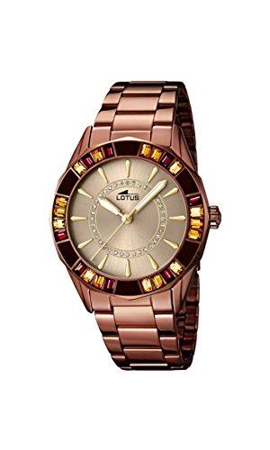 Lotus 15894/1 - Reloj de Pulsera Mujer, Acero Inoxidable, Color Marrón