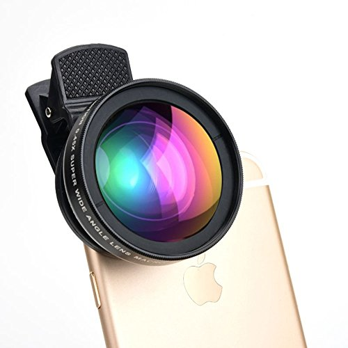 HD Cell Phone Camera Lens 0.45X Wide Angle + 15X Macro Lense Accessories Kit by ProPix - Expand Your Field of View by 50%, Capture Unrivaled Detail - Fits iPhone/iPad & Most Smartphones
