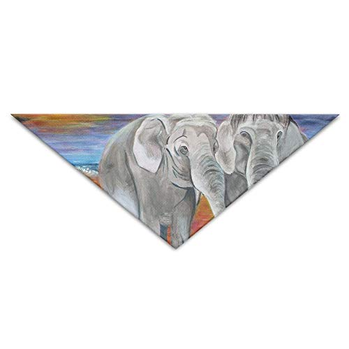 Lovers Elephant Turban Triangle Scarf Bib Scarf Accessories Pet Cat and Baby Puppy Saliva Dog Towel