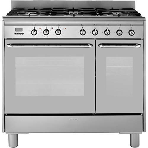 Smeg CG92PX9 Freestanding A/A Rated Dual Fuel Range Cooker -Stainless Steel