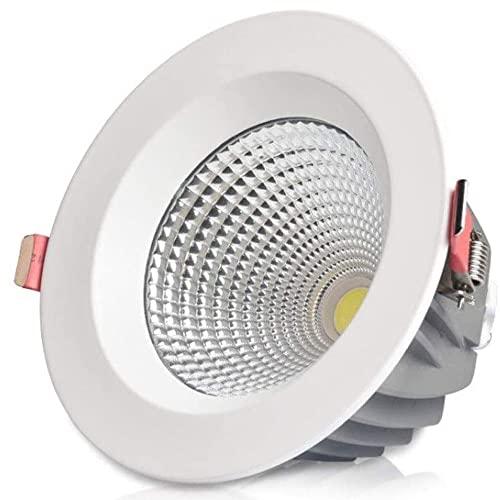 M-zen Lámpara de techo simple y moderna 10/15/20 / 30W Foco LED Empotrable Aluminio Metal COB Panel de luz Interior Hogar Downlight Iluminación Ahorro de energía Decoración comercial Habitación de hot