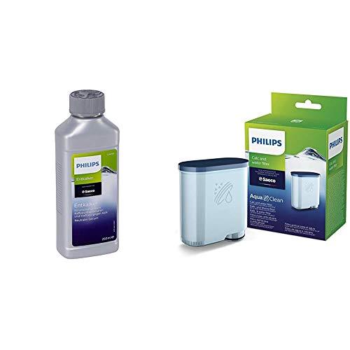 Philips CA6903 10 AquaClean Filtro Acqua e Anticalcare & CA6700 22 Decalcificante Liquido Per Macchine Caffè, Confezione da 2