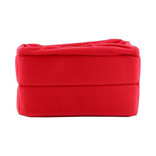 Plooibaar en flexibel, schokbestendig cameratasje Fluweel, voor DSLR-camera(red)
