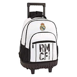 41oYHqeph2L. SS300  - Real Madrid CF Mochila Grande con Ruedas Carro Fijo, Trolley