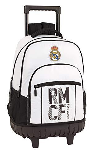 Real Madrid CF Mochila Grande con Ruedas Carro Fijo, Trolley