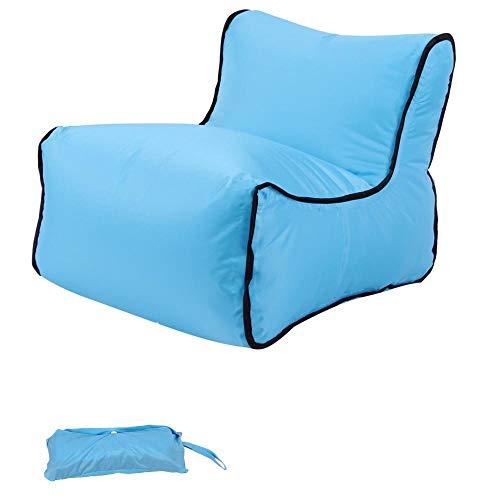 Lazy aufblasbares Sofa Nylon reißfestes Material tragbares Luftbett im Freien-Blau