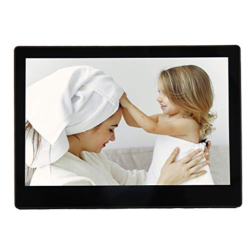 Touch Digital Picture Frame with Wi-Fi, 10.1 Inch Digital Photo Frame with 1280 x 800 HD IPS Display, Support Bluetooth, 1080p Video/Audio, USB/SD Card, 10GB Digital Frames Picture