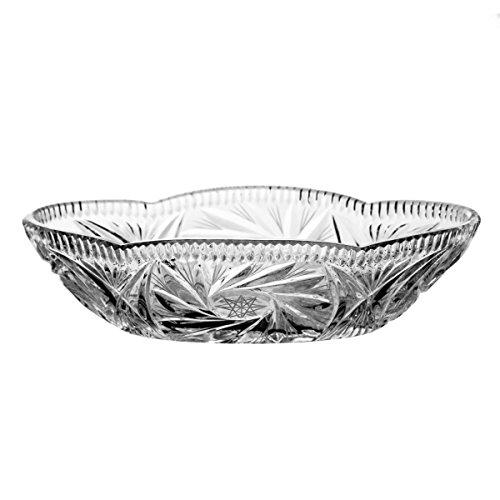 Lot de aljulia 0003 Hareng Bol en Cristal à Motif étoile – 26 x 26 x 14 cm