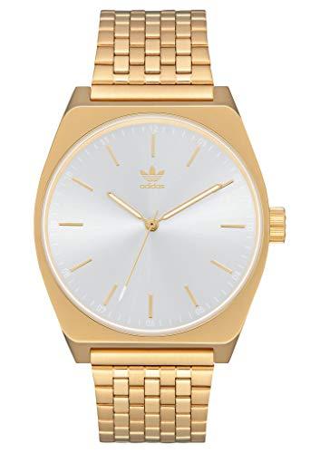 adidas Pulsera Relojes De Los Hombres Process_M1.6 Enlace De Acero Inoxidable, 20 Mm Anchura (0,38 Mm) De Oro/Blanco Sunray