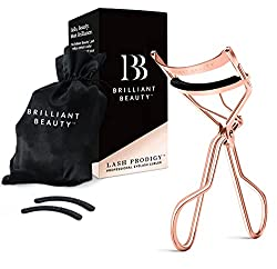 Beauty blogger Stephanie Ziajka of Diary of a Debutante shares why the Brilliant Beauty eyelash curler is one of the best makeup products on Amazon