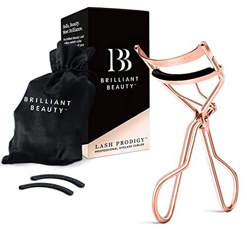 Brilliant Beauty Eyelash Curler with Satin Bag & Refill Pads - Award...
