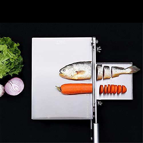 TTLIFE Taglia Carne Manuale con Affilacoltelli, 13.5 pollici Affettatrice manuale per uso domestico in acciaio inossidabile, affettatrice per alimenti vegetali per cucina casalinga