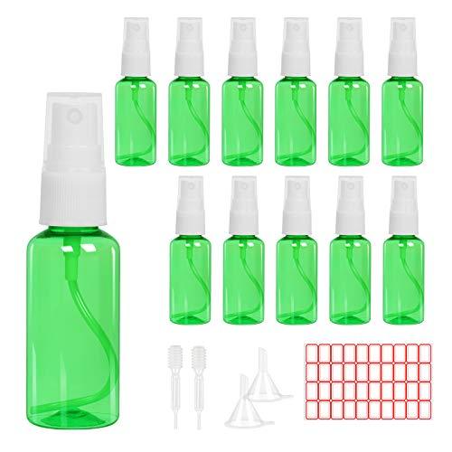 KAKOO 18PCS美容アトマイザーセット12 x 30 ml空きスプレーボトル透明プラスチック香水アトマイザースプレー化粧品ボトル旅行用漏斗+ 測定ピペット+ラベル