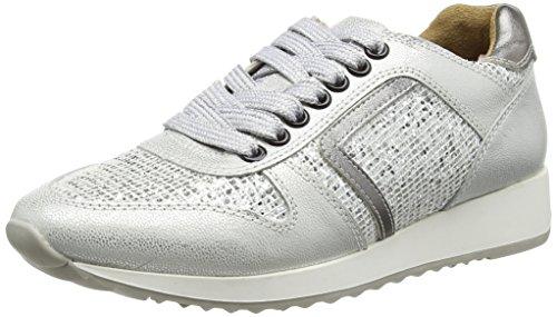 Laufsteg München Damen FS162001i Sneaker, Weiß (White Glitter), 41 EU