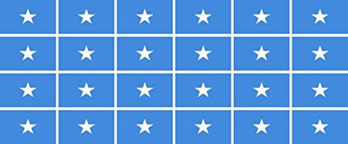Mini Aufkleber Set - Pack glatt - 33x20mm - Sticker - Somalia - Flagge - Banner - Standarte fürs Auto, Büro, zu Hause & die Schule - 24 Stück
