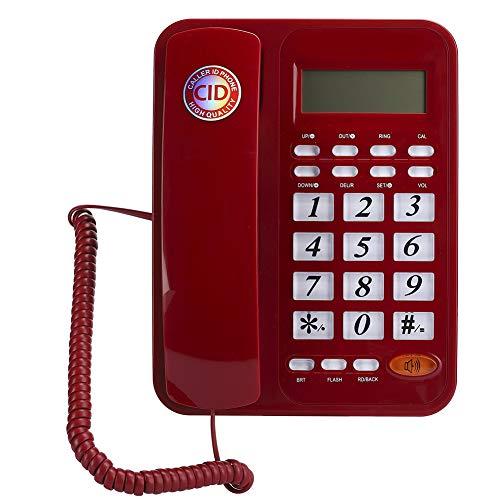 143 Telefono con Filo, DTMF FSK Sistema Doppio ID chiamante Telefono Fisso Alimentato da Linea per casa/Ufficio