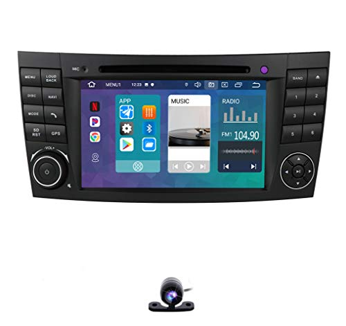 Android 10 OS 7 Inch Car DVD Video Player Car Stereo Radio Fit for Mercedes-Benz E-Class W211 CLS W219 G-Class W463 CLS 350 CLS 500 CLS 55 Multimedia Player GPS Navigation Include Backup Camera