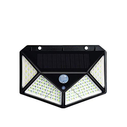Solarleuchten an allen Seiten beleuchten 100LED-Leuchten warmes Licht mit Bewegungssensorleuchten Wandleuchten Gartenleuchten Sicherheitsleuchten