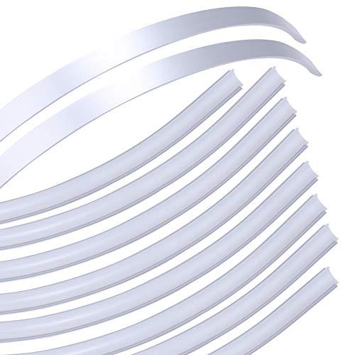 Muzata Flexible LED Channel with Milky White Cover Lens,Bendable Aluminum Profile Housing Diffuser for Strip Tape Light,10PACK 1M 3.3FT Anodized Flush Corner Mount U106 1M WW,LB1