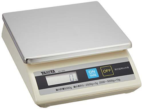 タニタ クッキングスケール キッチン はかり 業務用 防滴 卓上スケール (取引証明以外用) 5kg KD-200