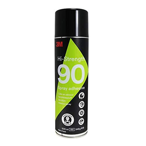 3M Hi Strength 90 Sprühklebstoff | Extra stark | Industrieller Sprühkleber | Für fast alle Materialien | 500 ml