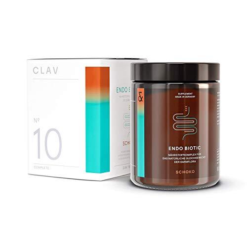 ENDO BIOTIC Choc   Probiotics Bio Cultures Complex Drink Powder   9 Bacterial Multi-Strains + Inulin   Lactose Free + No Sugar + Vegan   90g Powder Made in Germany