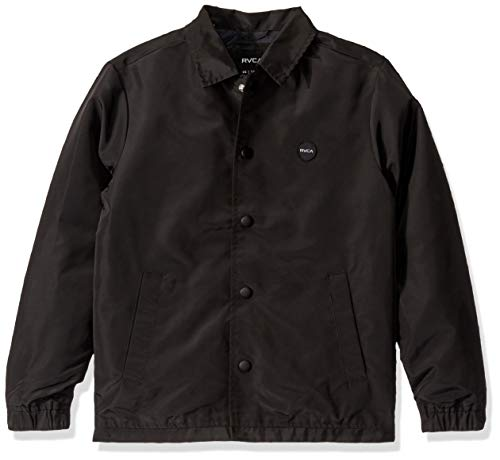 RVCA Boys' Berni Coaches Jacket Black X-Large