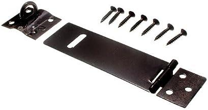 2 x HASPS & nietjes vangsten voor hangsloten Light Duty Zwart 100MM