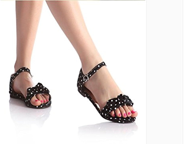 WHW Women's Transparent Heel Wedges Heels Peep Toe Sandals Heels Outdoor Sandals,42,Black