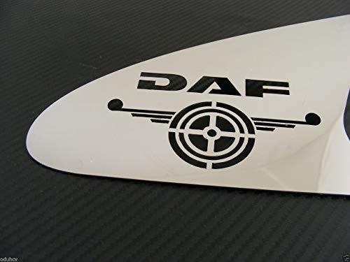 2 en acier inoxydable poli Poignée de porte Panneau Décorations pour Daf CF camions