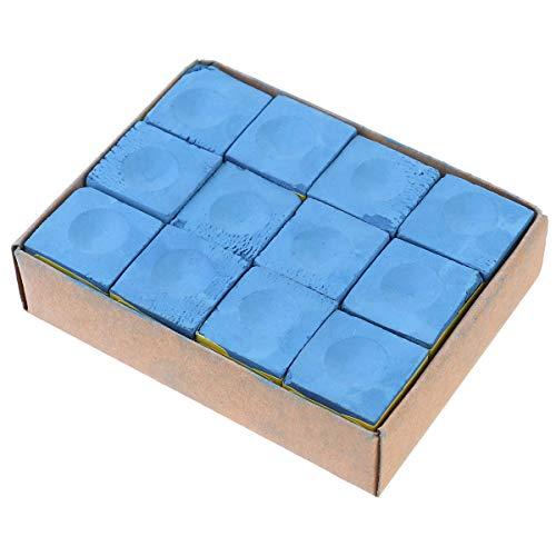 Abaodam Billardkreide für Billardqueues, tragbar, 1 Box mit 12 Stück (zufällige Farbe)