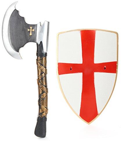 Kit da cavaliere con scudo ed ascia