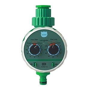 MIAOKE Reloj de Riego, Programador de Riego para Jardín, Temporizador de Agua con riego programado con Cubierta Protectora impermeabl