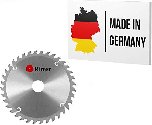 Ritter  disco sierra circular 160 x 20 mm madera | discos de corte para madera 160x20 | hoja de sierra circular | Compatible con sierras circulares de Bosch, Makita, Festool, evolution etc.