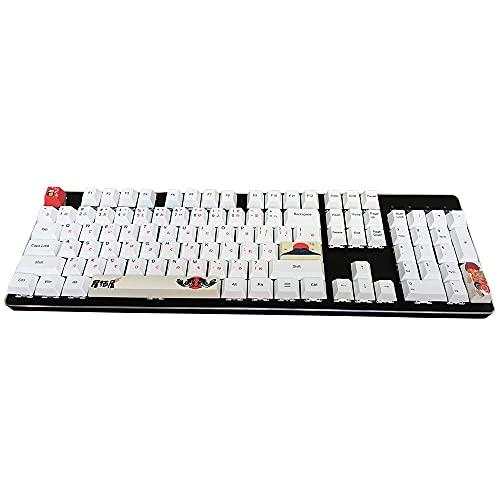 4 Tastenkappen Set, Dye-Subbed PBT Keycaps OEM Keycaps Spacebar Keycap ESC Keycap Enter Keycaps for DIY Cherry MX Gaming Mechanical Keyboard Izakaya