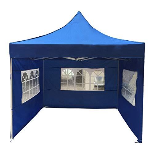 Zelt mit Fenstern Zelt Hauszelt Stall Vier Ecke faltet Ausstellungszelt im Freien Schatten Markise Festival Zelt, mit voller Stehkopfhöhe, wasserdicht Familie Camping-Zelt