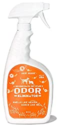 After much research, we've decided to come up with a list of the best pet odor eliminator products on the market. We'll provide you with a list of brands that are all of high quality, regardless of whether you choose the premium or the budget option. But really, our number one choice is the Rocco & Roxie Stain & Odor Eliminator. It's a solid product with a formula that completely eradicates any pet odor. It's also a great urine neutralizer due to its natural enzymatic bacteria that activates on contact. As far as cat urine remover products go, this is the top contender.