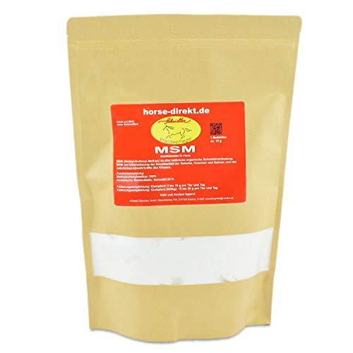 MSM, (Methylsulfonylmethan) 1 kg, organischer Schwefel, 99,9% rein - inkl. Messlöffel