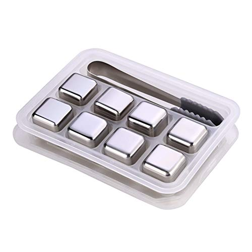 Eidoct - Juego de cubitos de hielo reutilizables de acero ...