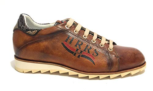 Harris Scarpe Uomo Sneaker Pelle Gold Tamponato/Pitone Minoa U17HA116