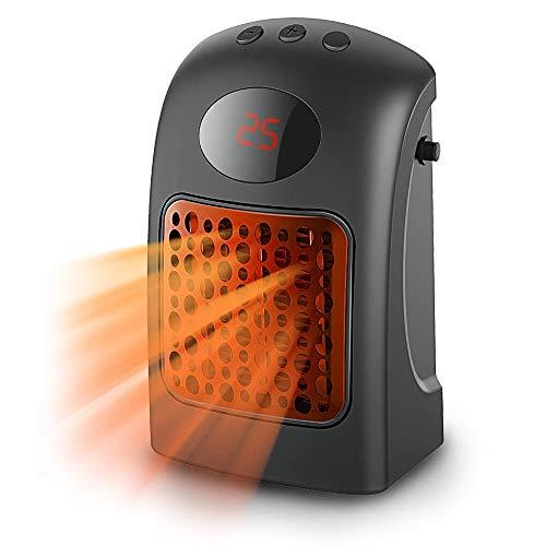 LEDGOO - Minicalefactor eléctrico portátil (900 W, cerámica, con termostato ajustable y...
