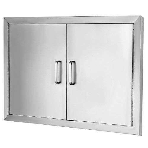 GIOEVO Altezza BBQ Island Door Con 2 Porte Sportello Di Ispezione In 304 Acciaio Inox Porta In Acciaio Inox Doppia