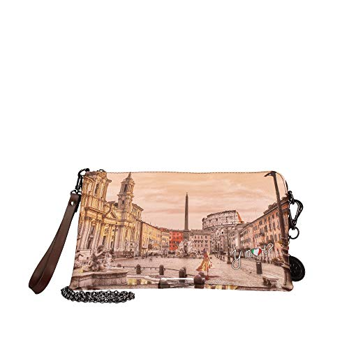 YNOT Pochette Handle Medium YES-303F0 BROWN-ROME 26 x 18 x 2,5 cm