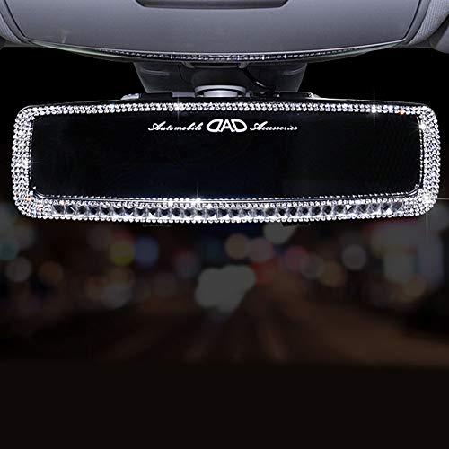 MAICOLA Bling Strass dello Specchio di Rearview Ragazze Universale Brillantini Decorazione del Diamante Rear View Mirror Accessori Auto Car Interior Trim