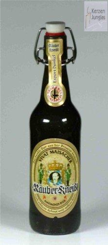 Bierkerze, Räuber Kneißl 0,5 l - 2059 - Bayerische Bier Geschenke - Das perfekte Bier Geschenk für Bierfreunde und Bierfans.